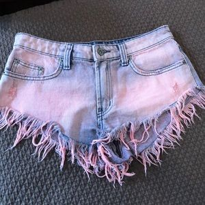 Carmar Pink Acid Washed Shorts